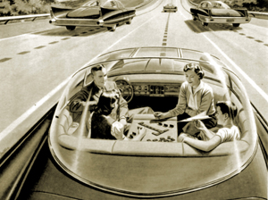 "What the ""car of the future"" looked like to futurists in the 1950s"